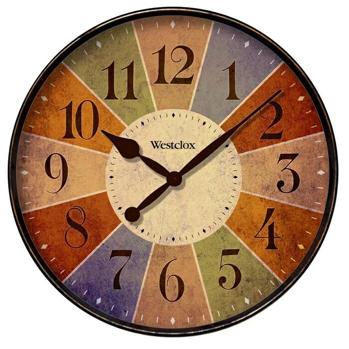 素朴な アンティーク風 木製 フレーム 時計