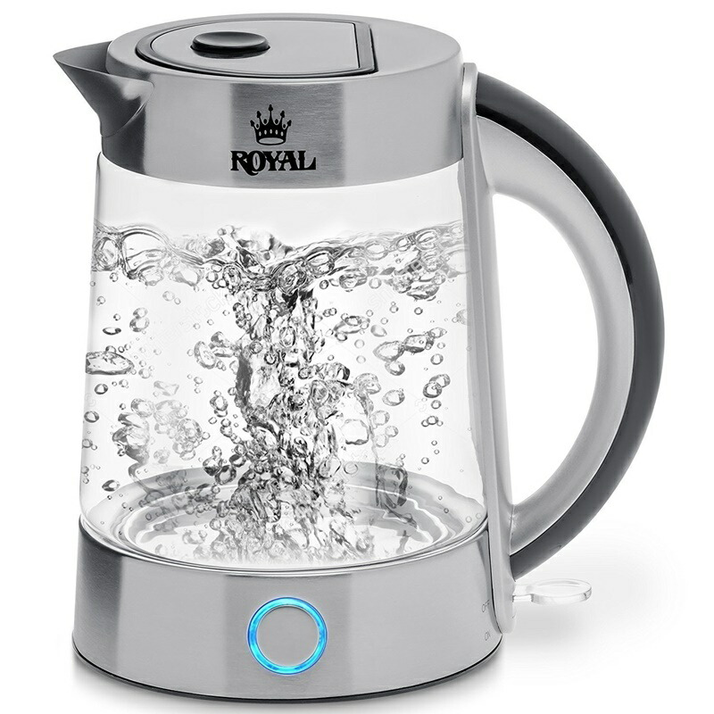 高速 ガラス湯沸かしポット 1.7L コードレス