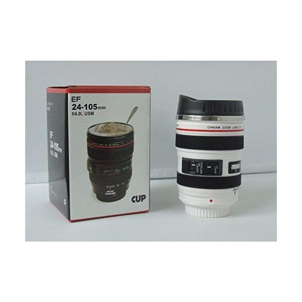 カメラ レンズ型 保温 ステンレス マグカップ