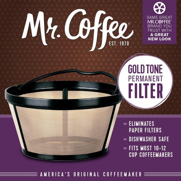 ミスターコーヒー バスケットスタイル パーマネントフィルター 12カップ 紙フィルターいらずで経済的