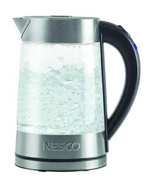 ネスコ Nesco GWK-02 エレクトリック グラス ウオーターケトル 1.7L 電気ケトル