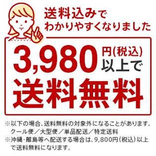 3980円購入で送料無料