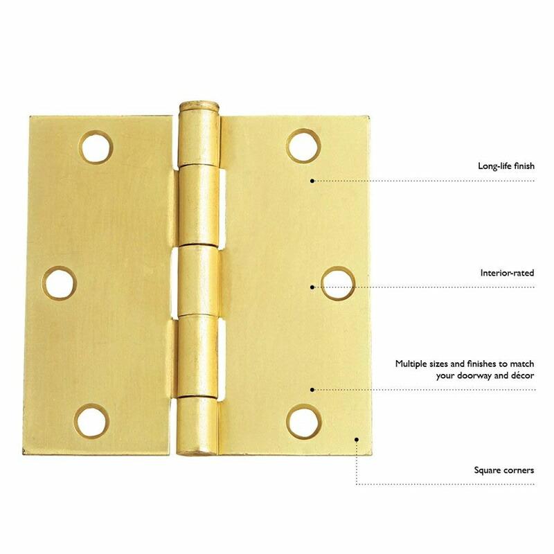 ドアヒンジ ポリッシュドブラス 真鍮 ゴールド