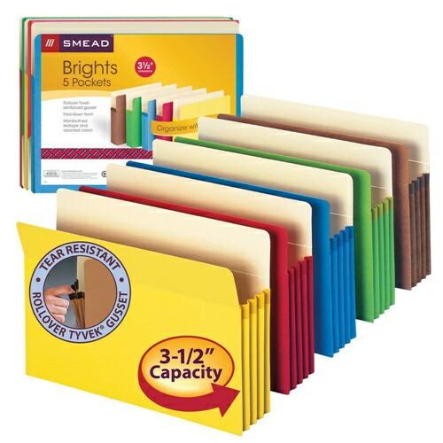 ファイルの整理に Smead ファイル ポケット