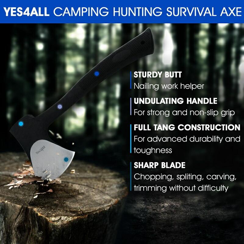 アウトドア キャンプ 斧とナイフ