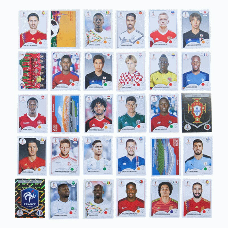 ワールドカップ ロシア サッカー トレーディングカード