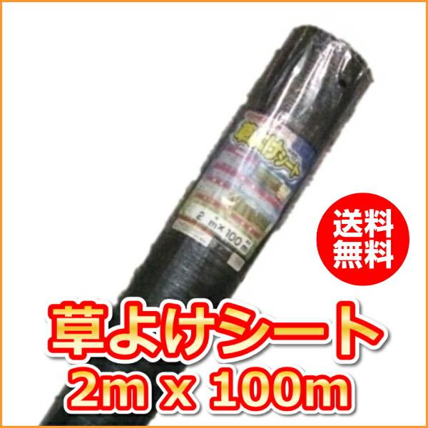 〔抗菌剤入〕草よけシート (2mx100m)(送料込)