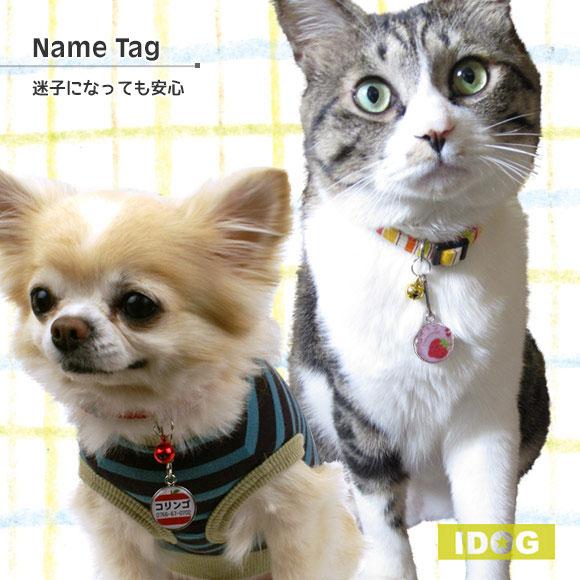 犬 猫 ペット 迷子札 iDog&iCat オリジナルネームタグ 迷子札 フルーツ ネームプレート 名札 ドッグタグ