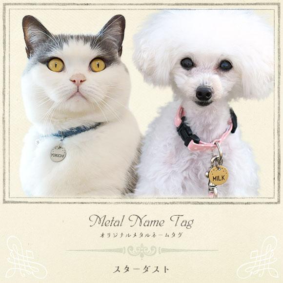 犬 猫 ペット 迷子札 iDog&iCat オリジナルメタルネームタグ 迷子札 スターダスト ネームプレート 名札 ドッグタグ