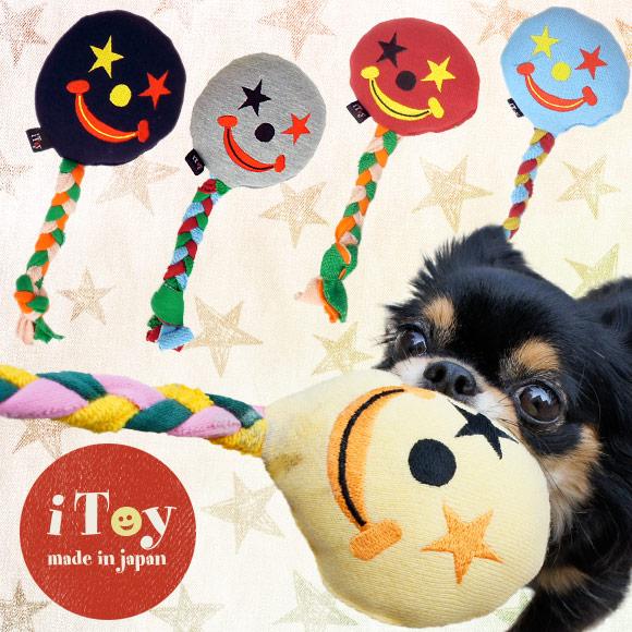 犬 猫 ペット iDog&iCat iToy アイトイ カラフルピエロ おもちゃ 国産 布製 犬のおもちゃ