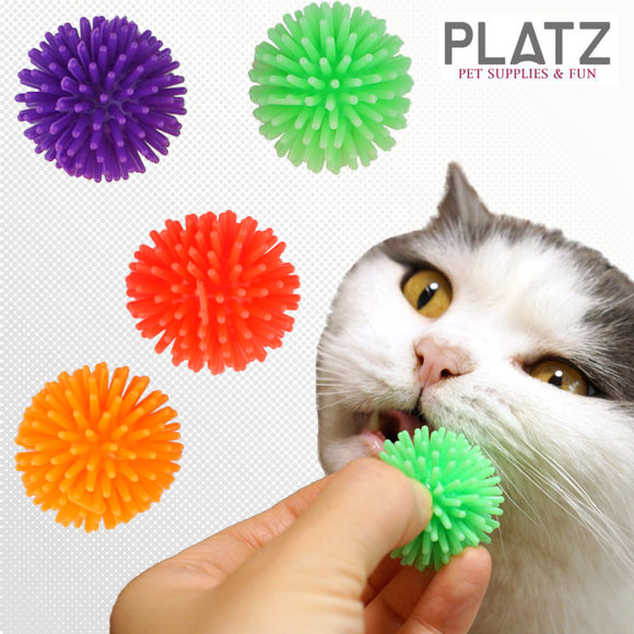 猫 おもちゃ PLATZ/ファジーボール ラテックス ゴム ラバー 犬のおもちゃ