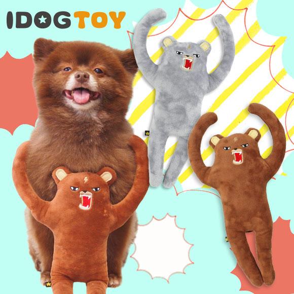 犬 おもちゃ iDog&iCat 怒れるクマさん 布製 ぬいぐるみ 犬のおもちゃ