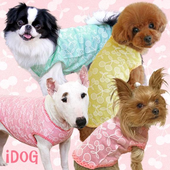 犬 服 iDog アイドッグ 食べごろチェリータンク 犬の服 犬服 春 春夏 トイプードル ペットウェア