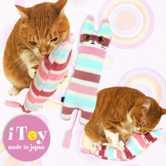 犬 猫 ペット iDog アイドッグ iToy しましまトラジ キャットニップ入り おもちゃ 国産 布製 猫のおもちゃ