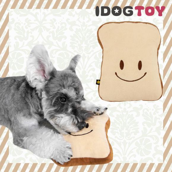 犬 おもちゃ iDog&iCat ふわふわ食パン 布製 ぬいぐるみ 犬のおもちゃ