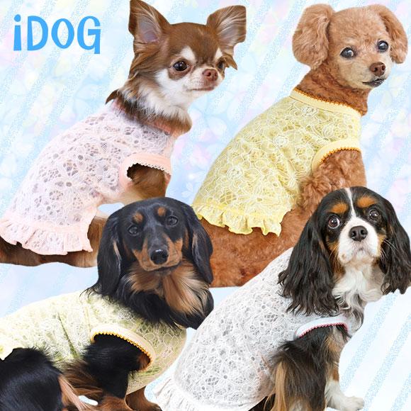 犬 服 iDog フラワーフリルタンク アイドッグ 犬の服 犬服