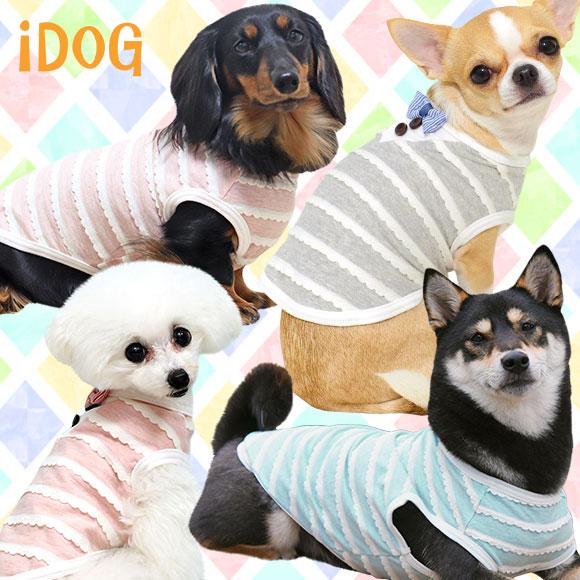 犬 服 iDog おすましレースボーダータンク アイドッグ 犬の服 犬服