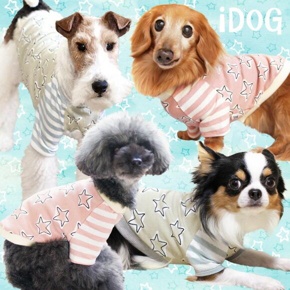 犬 服 iDog ラフスター切替Tシャツ アイドッグ 犬の服 犬服