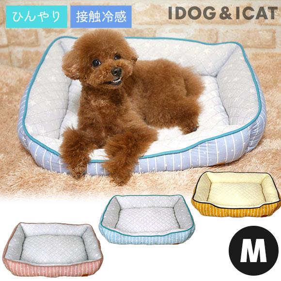 犬 猫 ペット ひんやりBOXベッド ストライプスター Mサイズ ベッド クッション マット ソファ カドラー
