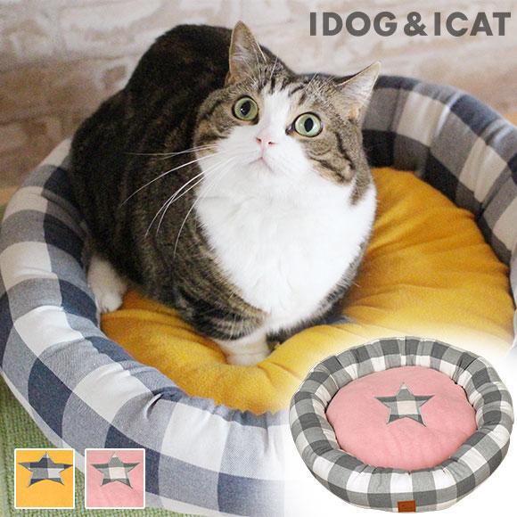 犬 猫 ペット IDOG&ICAT チェックスタードーナツベッド アイドッグ ベッド クッション マット ソファ カドラー