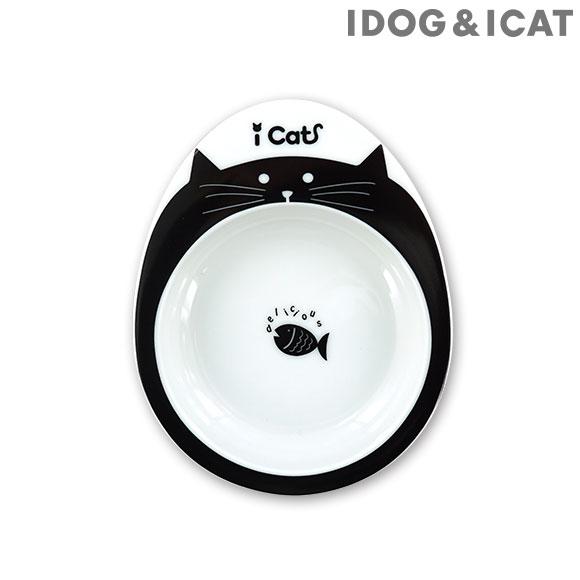 犬 猫 フードボウル IDOG&ICAT ドゥーエッグフードボウル浅皿 キャットフェイス フードボール 餌入れ 水飲み 器 給水器