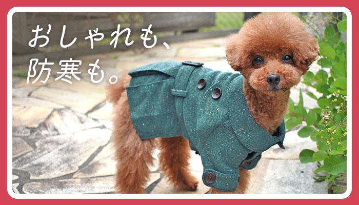 おしゃれも、防寒も。|犬の服のiDog&iCat