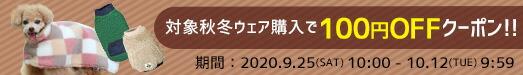 iDog対象の新作秋冬ウェアが100円OFFクーポン!