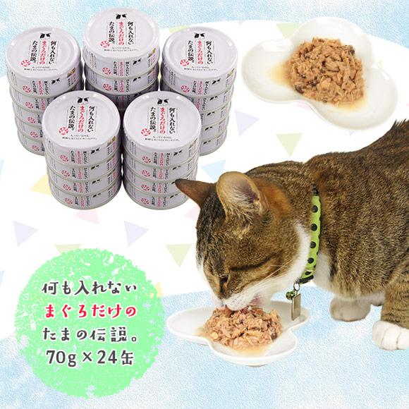 猫 キャットフード プリンピア 何も入れないまぐろだけのたまの伝説 70g缶【24缶セット】 ウェットフード 猫用フード 餌 ご飯