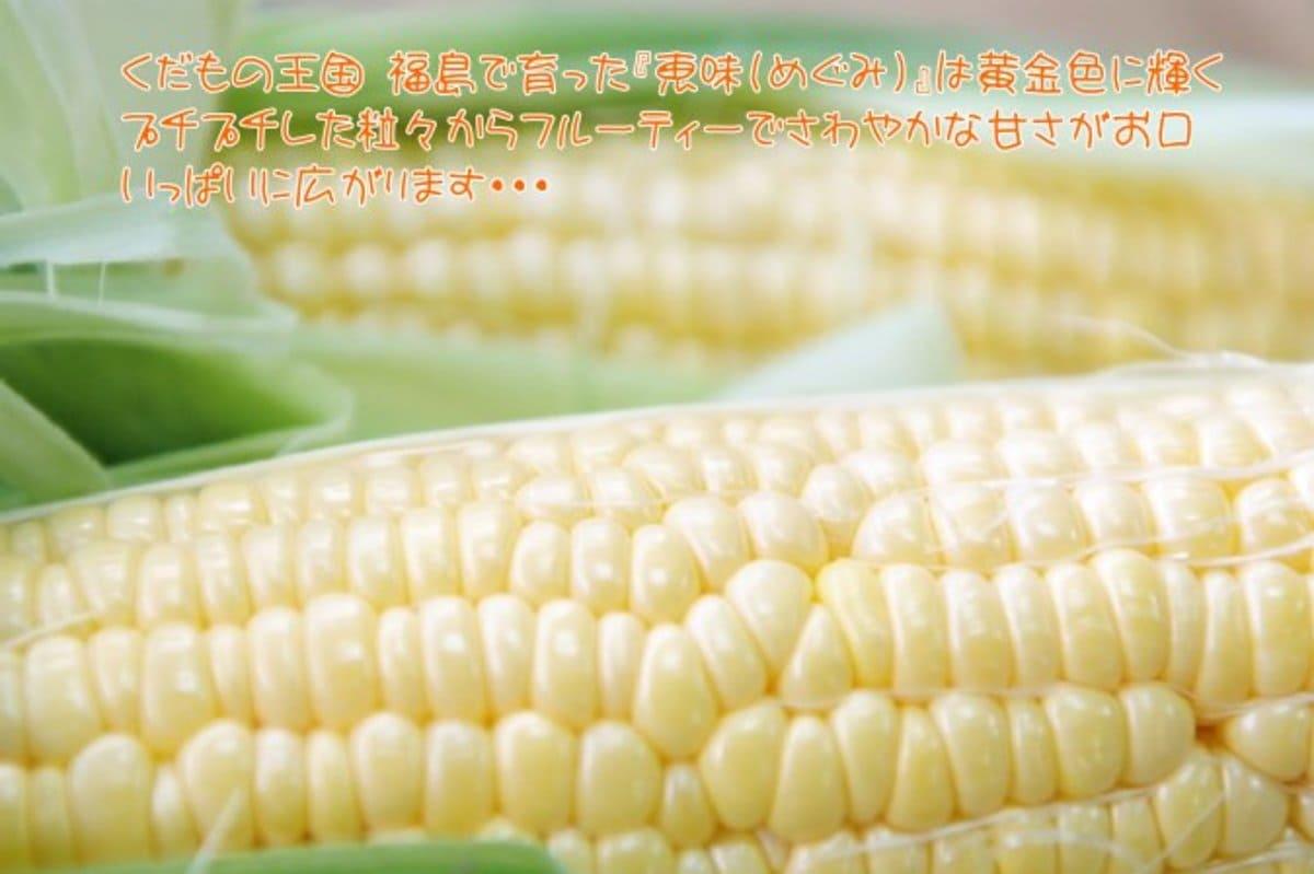 福島産 トウモロコシ 恵味ゴールド(めぐみ)