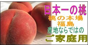 ご家庭用福島の桃