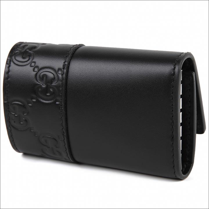 グッチ 6連キーケース GUCCI メンズ レディース ミストラル グッチシマ キーホルダー ブラック 256433-CWD2N-1000 【お取り寄せ】【送料無料】
