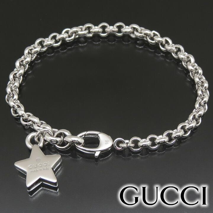 quality design 5148d a1e49 グッチ 星 ブレスレット GUCCI ブラック/シルバー ブレスレット ...