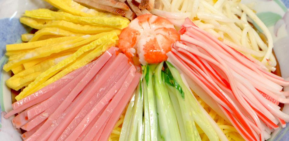 冷やし中華食品サンプル