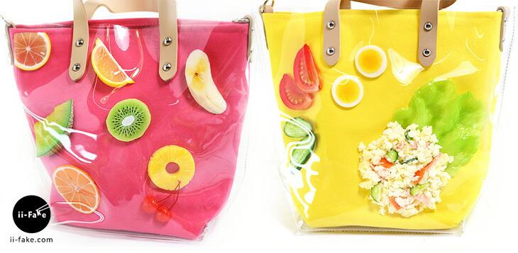 リアルな食品サンプルを使ったユニークなトートバッグ!