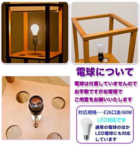 E26口金 60ワットまで対応の電球 LED電球使用可能 イメージ写真