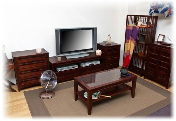 人気の和風 アジアンテイスト収納チェスト4段 飾り台 イメージ画像