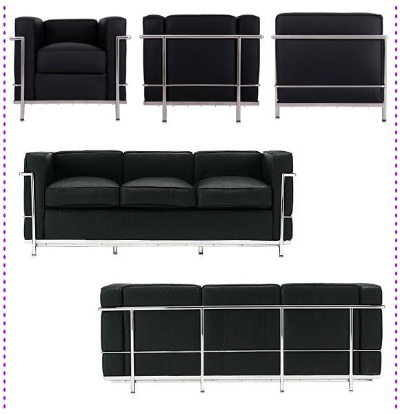 コルビジェ LC2 ソファ デザイナーズ家具 イメージ写真