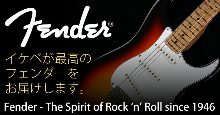 フェンダー The Spirit of Rock 'n' Roll since 1946