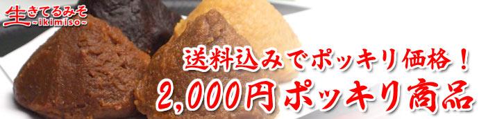 2,000円ポッキリ商品