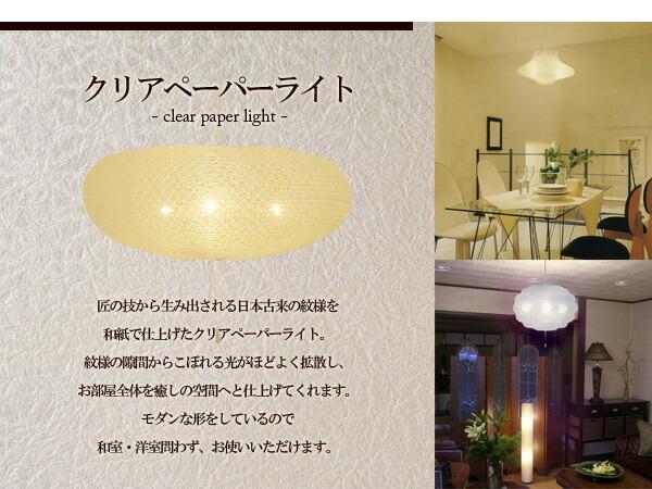 日本古来の紋様を和紙で仕上げたペーパークリアライト