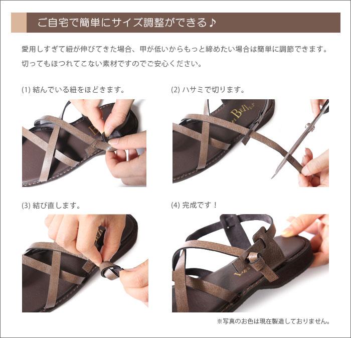 紐の調節方法