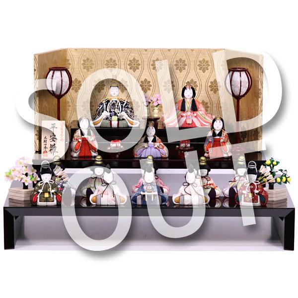 雛人形木目込み人形三段飾りメイン