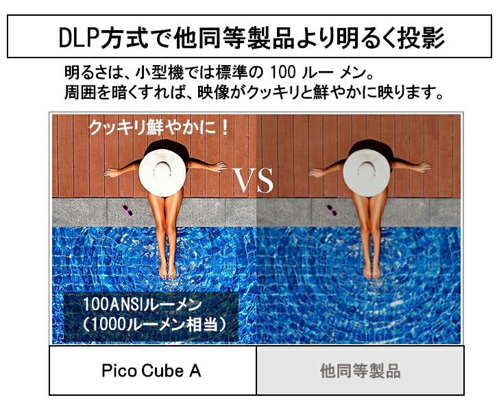DLP方式で明るく投影
