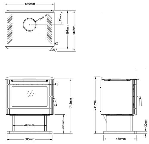 鋼板製薪ストーブ バルカン AD-3000 (ホンマ製作所)