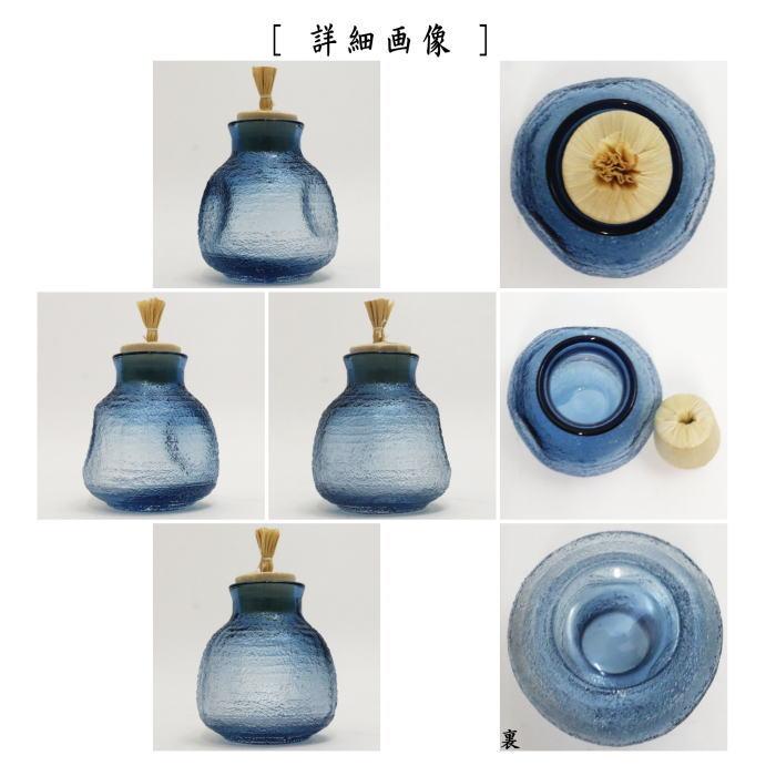 菓子器 干菓子器 振出(振り出し・金平糖入れ) ガラス(硝子) 雫