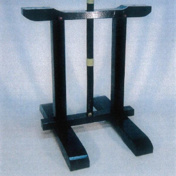 野立傘立て 黒掻合塗り 屋内用 組立式(高:約60cm) 木製(国産材使用)