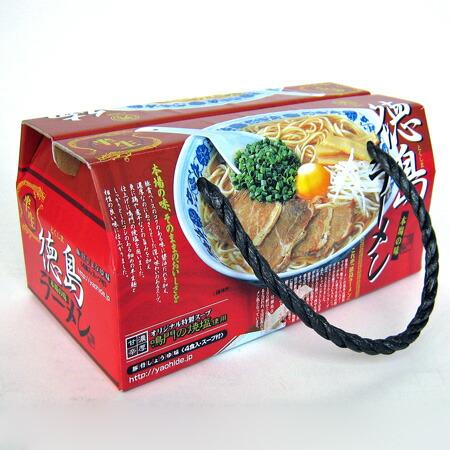 【八百秀】徳島ラーメン 4食BOX箱