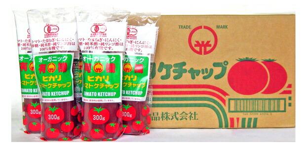 ヒカリ 有機トマトケチャップ  300gチューブ