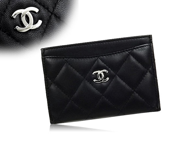 e993783425af Chanel CHANEL ☆ wallets & accessories (card holders) A31510 black  timeless classic lambskin leather card case discount % Ladies ☆