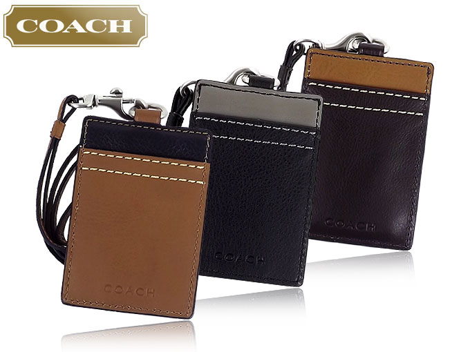 06c0efb2ae Coach COACH ★ accessory (card holders) F61313 Brown heritage Web leather  lanyards ID case outlet product discount % Mens ladies sale SALE store
